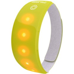 REFLECTIE WW LIGHTBAND M/RODE LED GEEL XL