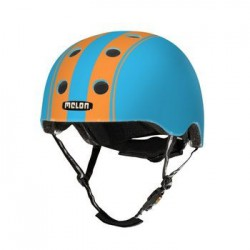 Helm Melon Double Orange Blue M-L (52-58cm) oranje/blauw