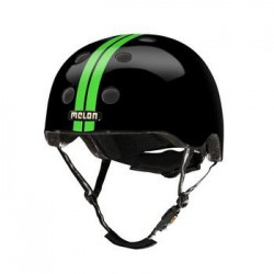 Helm Melon Straight Green Black XXS-S (46-52cm) groen/zw