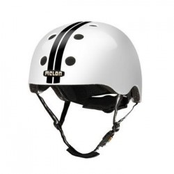 Helm Melon Straight Black White XXS-S (46-52cm)zwart/wit