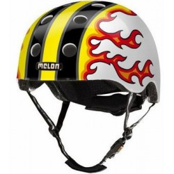 Helm Melon Fired Up XL-2XL (58-63cm) zw/geel/rood