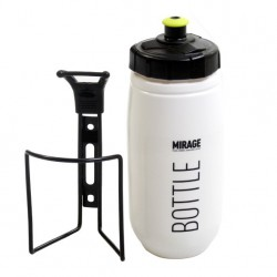 Mirage bidon met houder 600ml wit